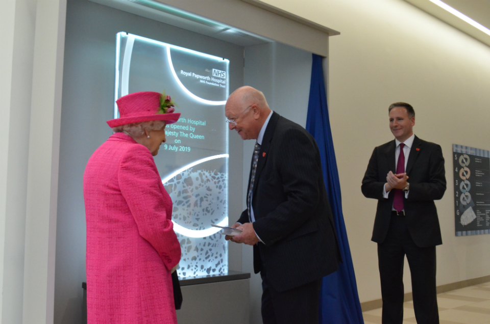 Her Majesty The Queen officially opens Royal Papworth's new hospital