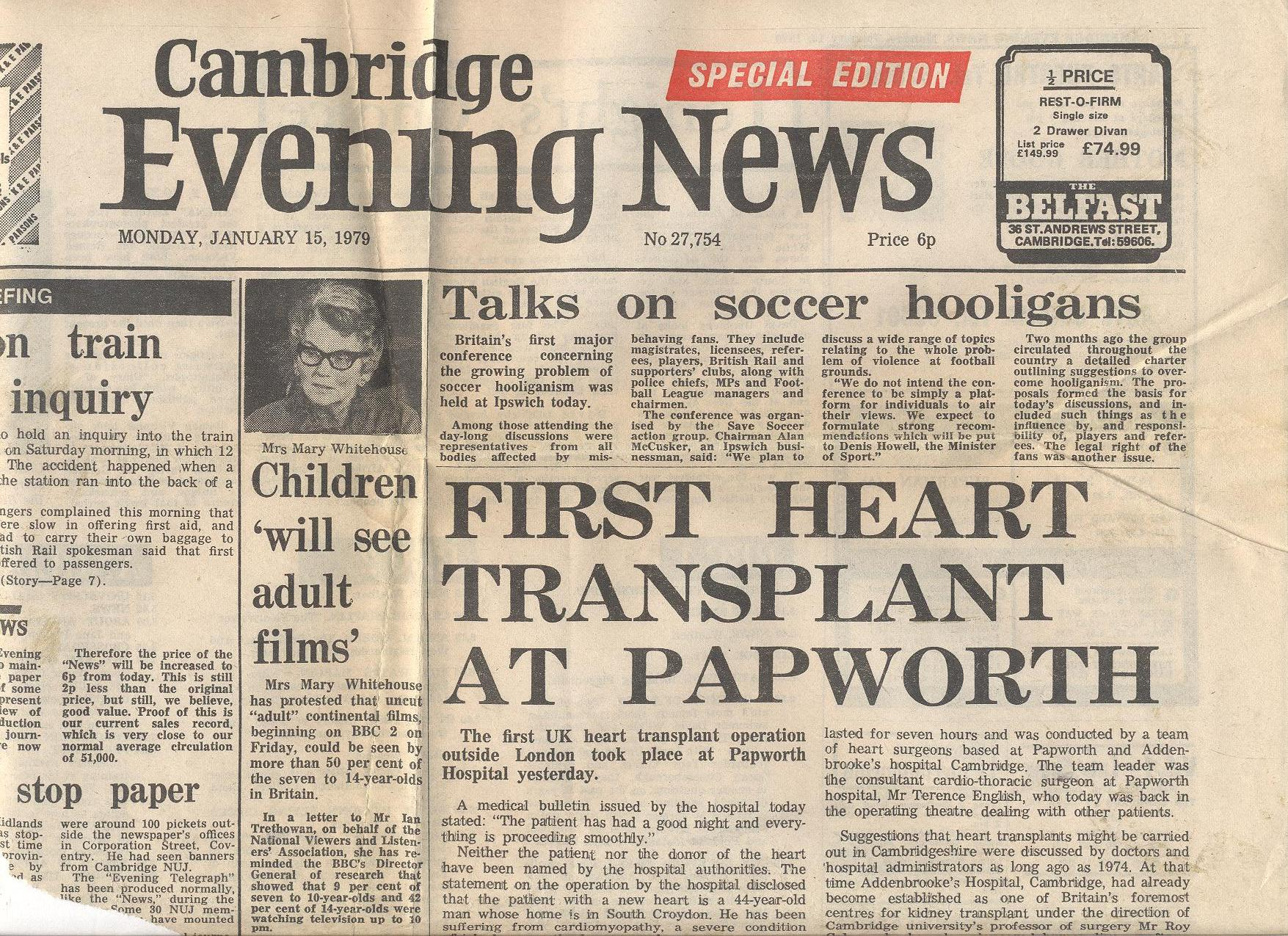 Royal Papworth Hospital celebrates 40 years of heart transplantation