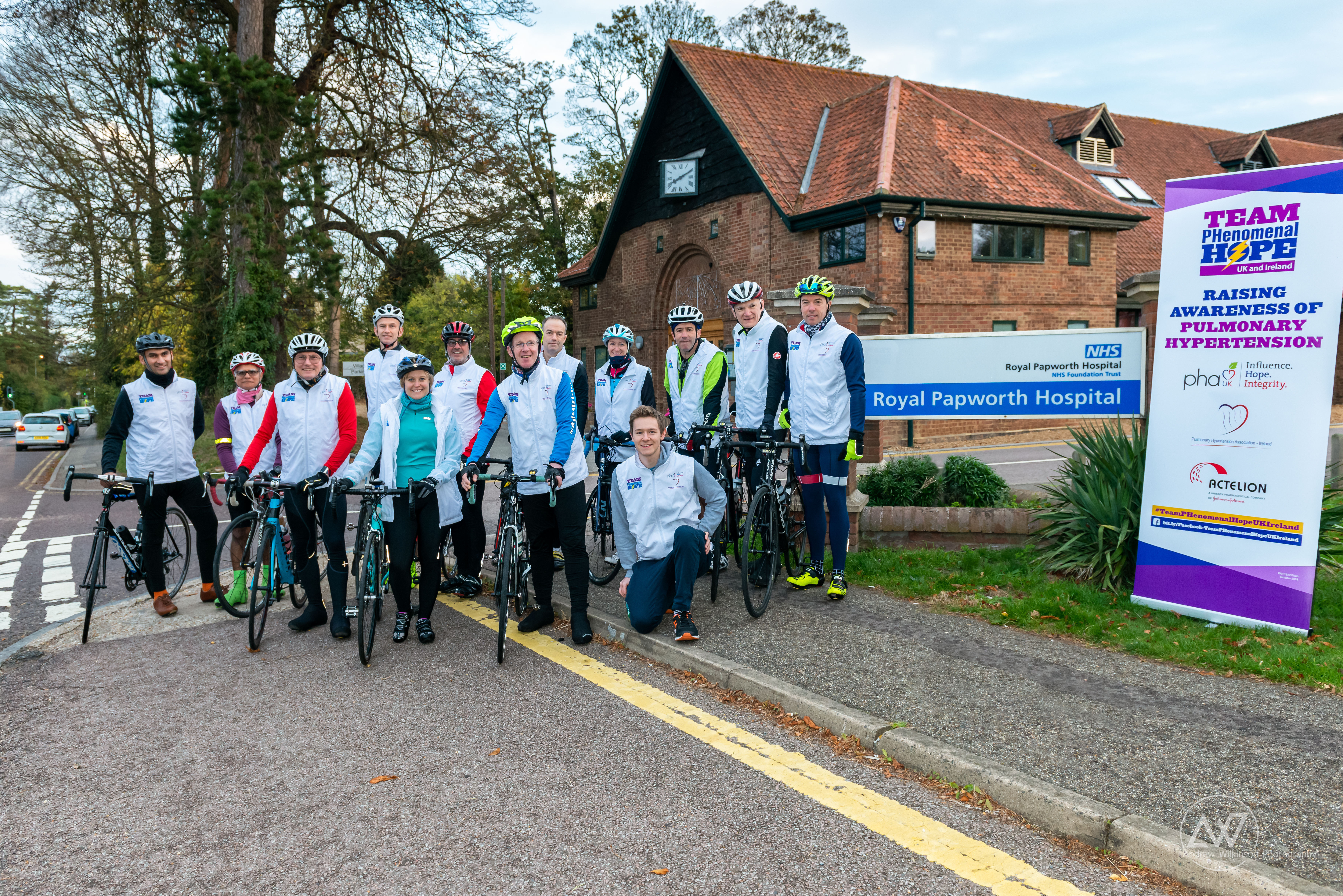 Staff in the saddle for Pulmonary Hypertension Awareness Week charity push
