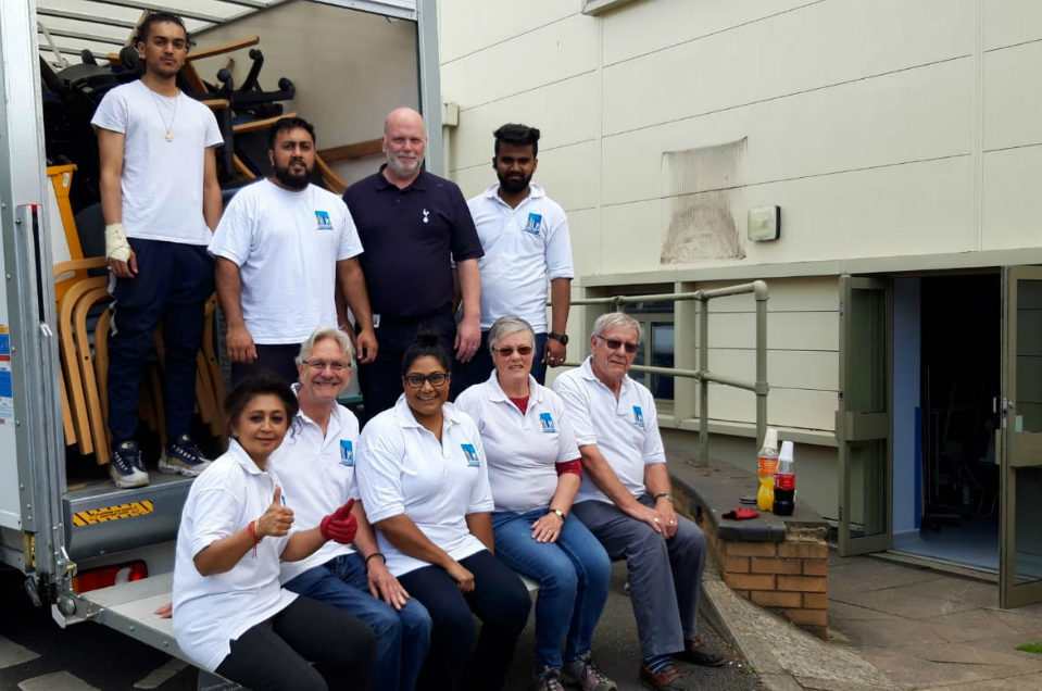 Old hospital equipment and furniture donated to charity