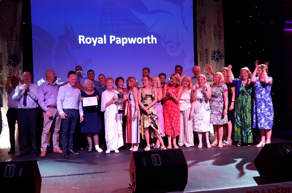 Royal Papworth wins 'Best Heart and Lungs Hospital' at Transplant Games