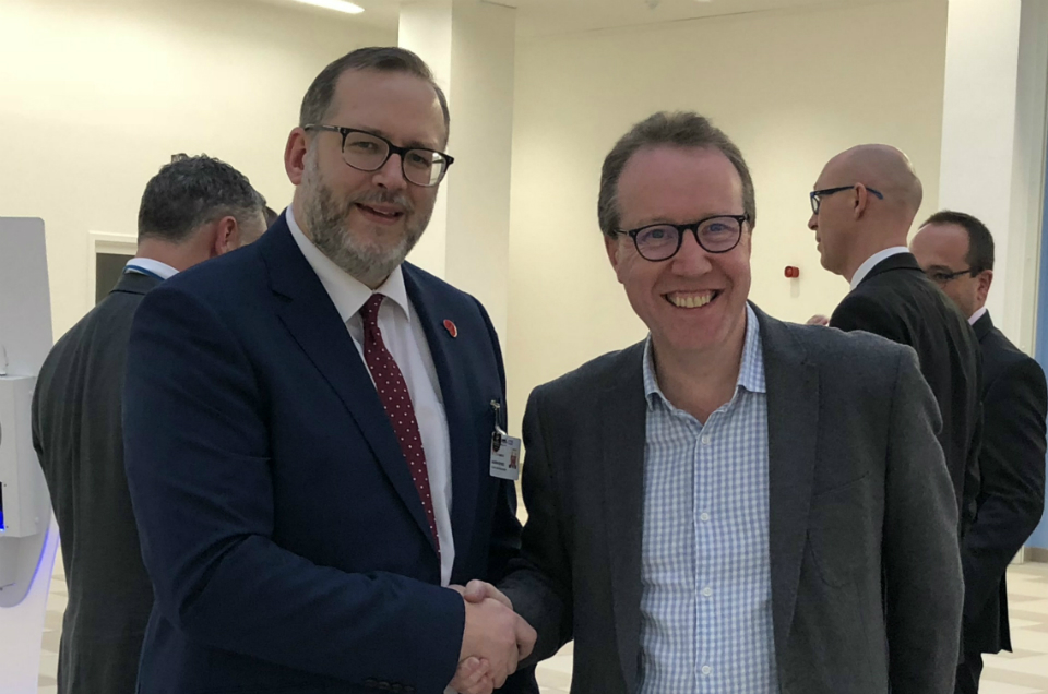 NHS England CIO visits Royal Papworth's new hospital