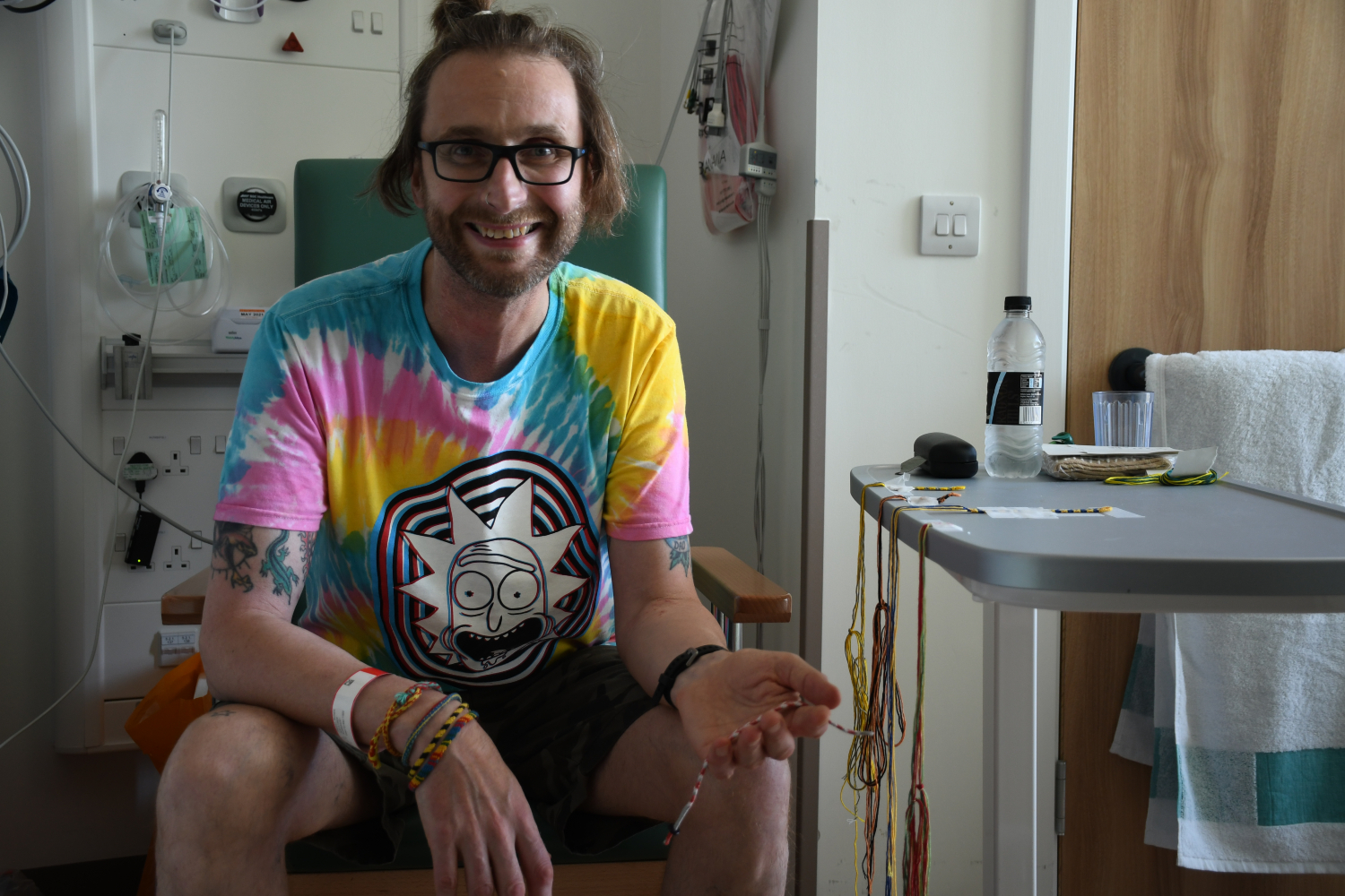Richard has made friendship bracelets for staff who looked after him.jpg