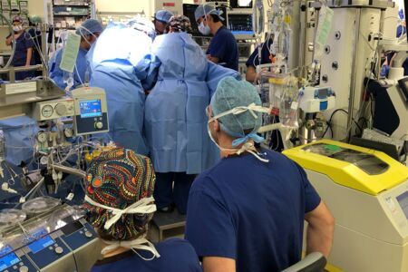 Perfusionist operate the heart-lung machine in modern day cardiac surgery.