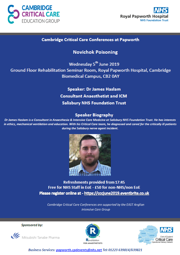 Critical Care Conference - Novichok Poisoning :: Royal Papworth Hospital