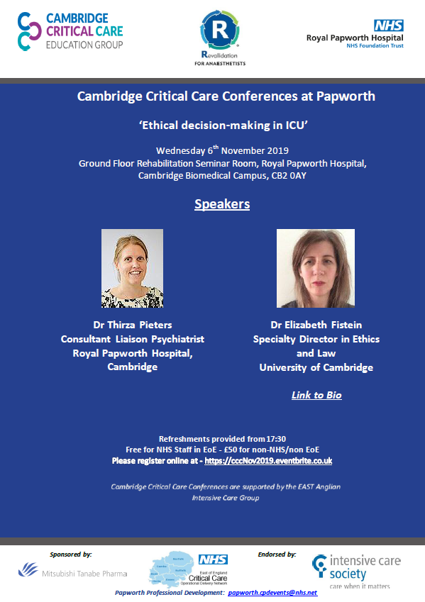 Critical Care Conference - Ethical decision-making in ICU :: Royal